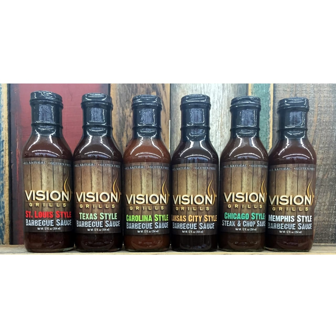 Vision Grill Chicago Style Steak & Chop Sauce Line up