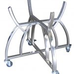 Large Grill Cart Kit - Curved Stainless Steel